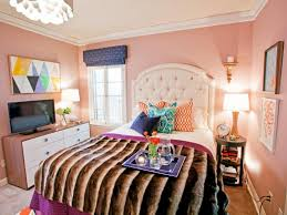 Bedroom Setup Ideas by Wonderful Small Bedroom With Peach Wall Color And Wall Decor Also