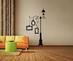vinyl wall decal sticker lampost with picture frames os dc161