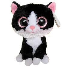 super cute big eyes ty beanie boos black cat plush toy