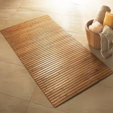 Bamboo Floor In Bathroom Bamboo Wooden Bath Mat Wooden Furniture Pinterest Bath Mat