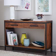 wood and metal console table metal wood console table west elm