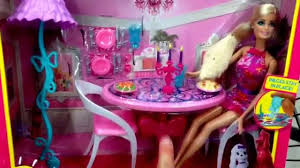 barbie dining room barbie glam dining room dreamhouse accessory toy set with doll