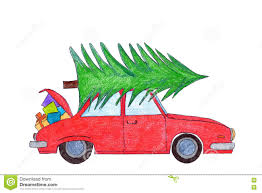 Car With Christmas Tree