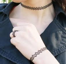 black tattoo necklace images 2018 hollow retro jewelry charming vintage style black tattoo jpg