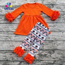 aicton ruffle baby clothes fall winter thanksgiving boutique baby