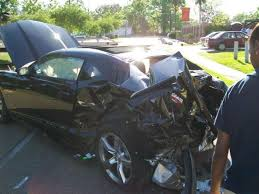 Black Mustang Crash Wrecked 2010 Camaro Ss Less Than A Day Old
