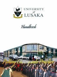 handbook university of lusaka academic degree university and