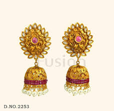 new jhumka earrings jhumka earrings traditional antique ruby pearl wedding earring