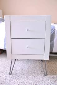 Hemnes Ikea Nightstand Furniture Night Stands Ikea Target Bedside Table Mirrored