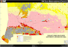 State Map Of California by Cal Fire San Bernardino North East County Fhsz Map