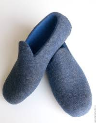 acorn chinchilla slippers mens loafer slippers felted knit
