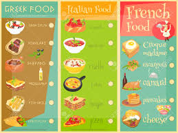 european cuisine european cuisine menu set food menu