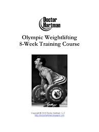 olympic lifting program hartman training course sports