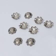 spacer earrings tassel caps earrings findings charms 10 mm pearl crimp end