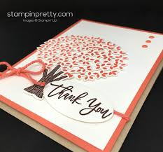 beautiful branches thank you card idea mary fish stampin