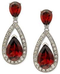 garnet earrings garnet earrings shop garnet earrings macy s