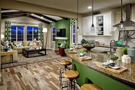 In The Green Kitchen - don u0027t you love the way these wood beams complement the green on