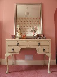Lighted Nightstand Bedroom Dazzling White Cream Wooden Lighted Mirror In Pink With