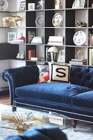 navy blue velvet sofa crushing on navy blue velvet sofas swoon worthy