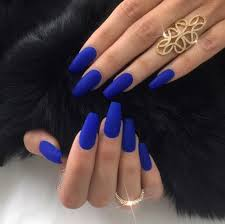 best 25 blue matte nails ideas on pinterest royal blue nail