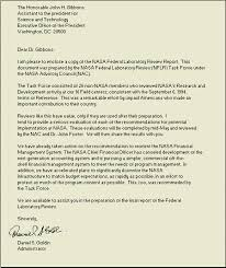 forwarding letter nasa federal laboratory review