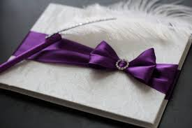 purple wedding guest book purple wedding guest book with pen custom made in by alexemotions
