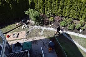 wet yard drainage surrey drainage contractor yard perimeter