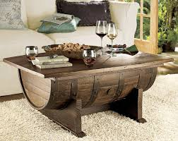 whiskey barrel side table barrel coffee table