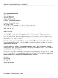 sample administrative manager cover letter cover letter office