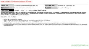 radio network engineer cover letter u0026 resume