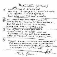biography of john lennon in the beatles song lyrics from john lennon for the song in my life john lennon