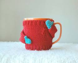 beautiful knitted sweaters for your coffee mugs