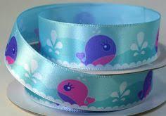 whale ribbon 7 8 blue whales pretty pink octopus grosgrain ribbon nautical