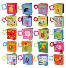 baby books 4pcs set random selection soft newborn baby book sensory