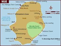 niue on world map map of niue