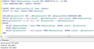 t sql insert into new table loop through one row at a time sqlhints com