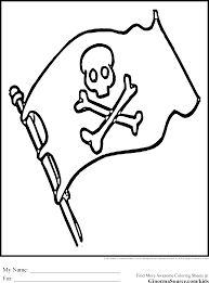 pirate coloring pages flag ginormasource kids