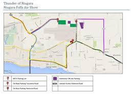 Niagra Falls Map Parking Thunder Of Niagara Air Show