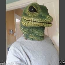 Lizard Halloween Costume Green Lizard Mask Creepy Halloween Costume Theater Prop Novelty
