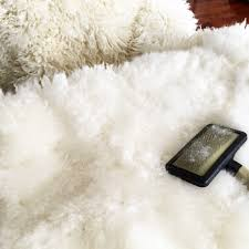 decorating rectangular white faux sheepskin rug for chic floor