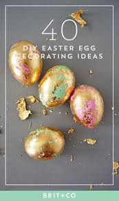 Easter Egg Decorating Ideas Bee by 40 More Egg Cellent Diy Easter Egg Ideas Brit Co