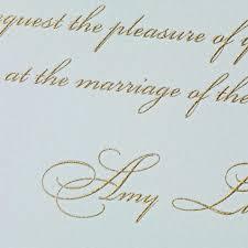 Embossed Invitation Cards Hand Engraved Beach Glass Embassy Wedding Invitation Wedding