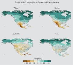 North America Precipitation Map by Precip Change Seasonal Precip Projections Rcp85 V2 Png