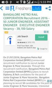 resume sles for engineering students fresherslive recruitment govt jobs 2017 sarkari naukri apk download free news magazines