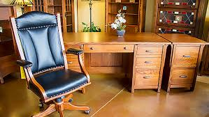 real wood office desk amish built furniture in houston the amish craftsman