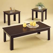 3 piece black coffee table sets cappucino 3pc occasionals tables atlantic furniture mattress