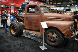 Classic Ford Truck Information - this 600 hp 1950 ford f 6 is a chopped dump truck straight out of