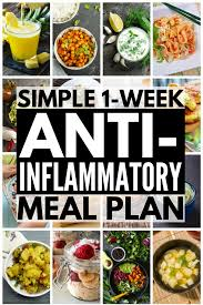 anti inflammatory meal plan 7 day anti inflammatory diet for