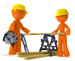 husband and wife contractor working on a home improvement project