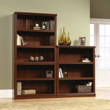 Sauder White Bookcase Bookshelf Sauder Barrister Bookcase 4 Glass Door In Conjunction